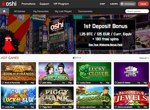 Oshi casino login